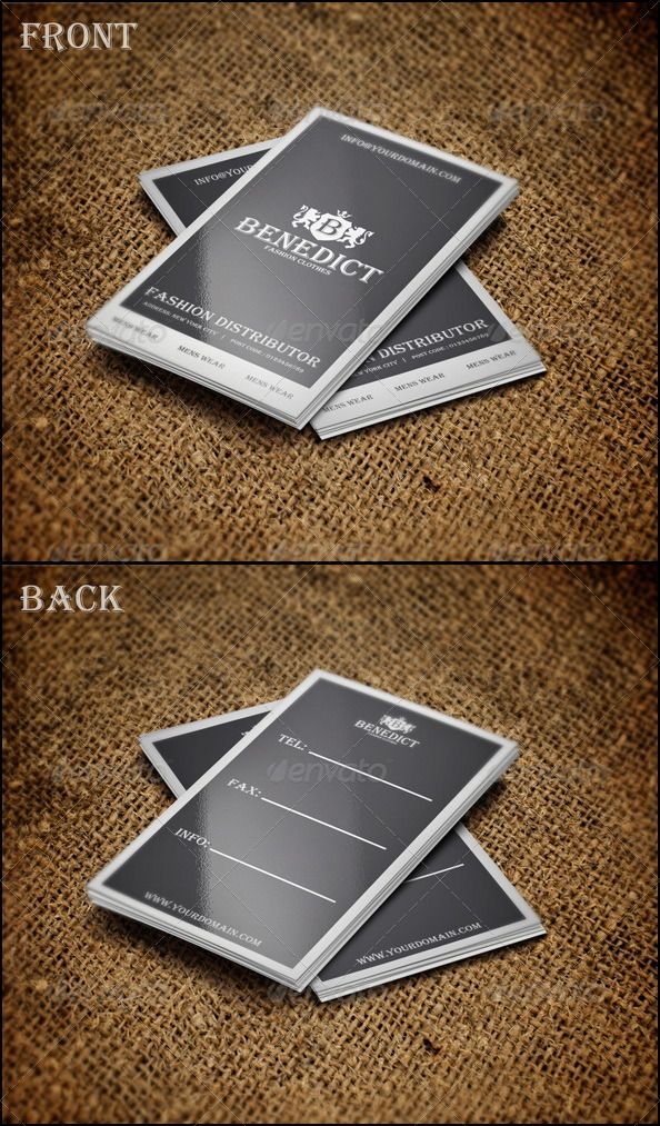 Benedict Card - Business Cards Print Templates