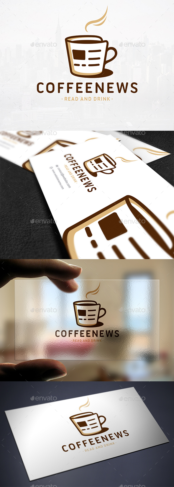 Coffee & News Logo Template - Objects Logo Templates