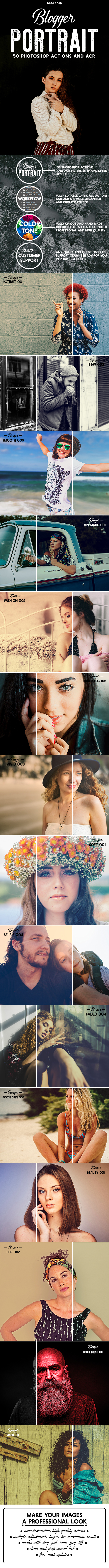 Blogger Portrait Collection - Photo Effects Actions