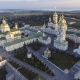 Aerial View of Holy Dormition Pochayiv Lavra, an Orthodox Monastery in Ternopil Oblast of Ukraine - VideoHive Item for Sale