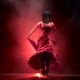Dancer an Incendiary Dance of Argentine Flamenco . Llight From Behind. Smoke Background. - VideoHive Item for Sale