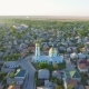 Aerial Footage of Vilkovo City Center - Top View of Church in Summer, Odessa Region, Ukraine - VideoHive Item for Sale