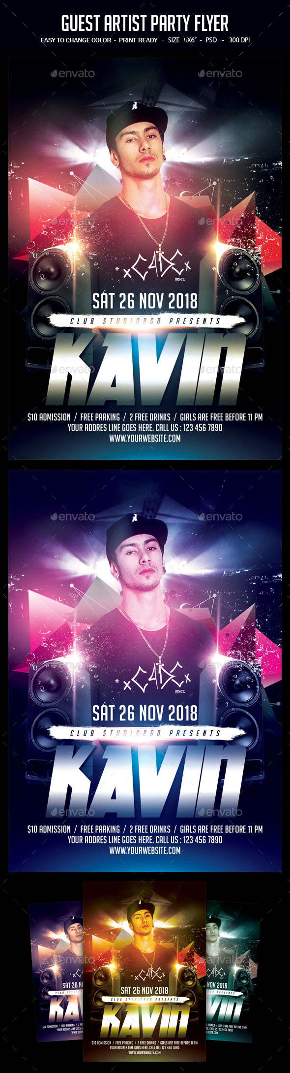 Guest Artist Party Flyer - Clubs & Parties Events