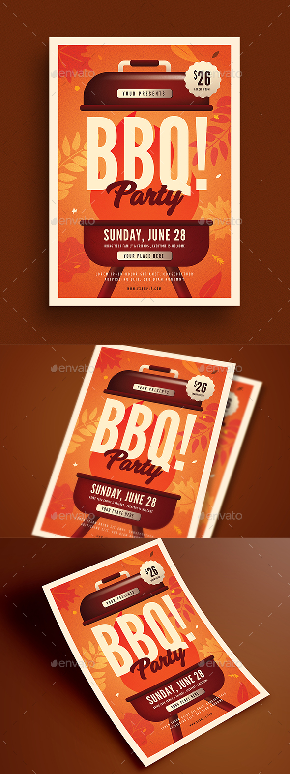 Autumn BBQ Party Flyer - Events Flyers