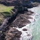 Aerial View of the Beautiful Coast and Cliffs Between North Stack Fog Station and Holyhead - VideoHive Item for Sale