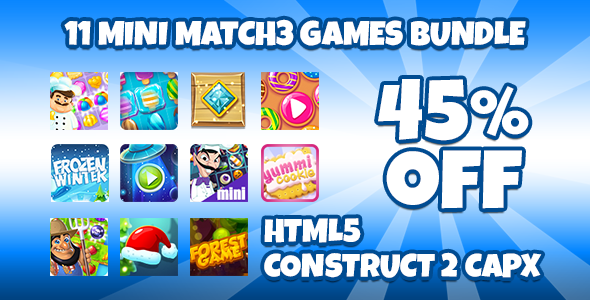 11 Match3 Games Bundle + Capx            Nulled