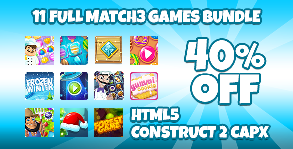 11 Match 3 Full Version Games With CAPX            Nulled