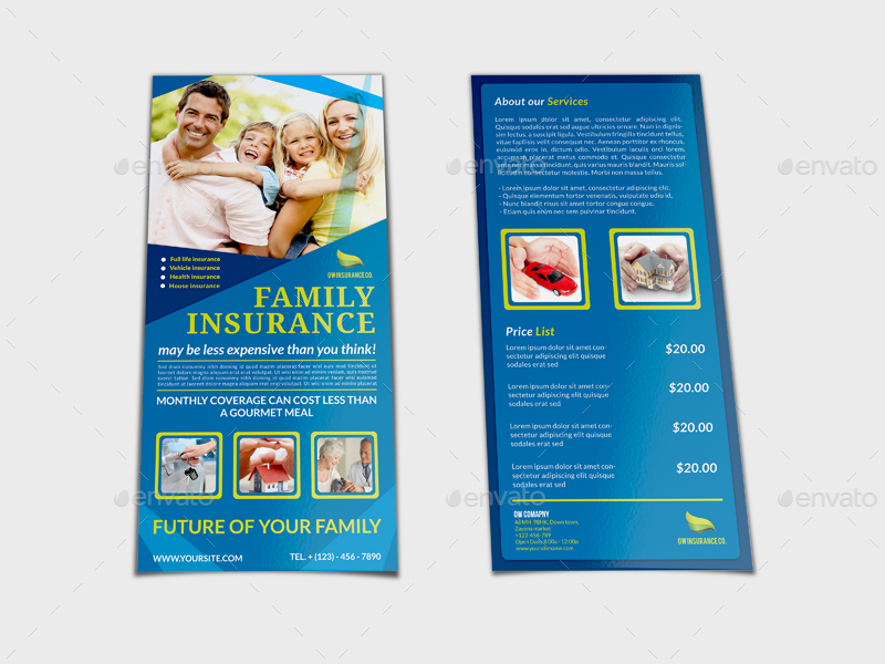 Insurance Flyer Template DL Size By OWPictures GraphicRiver - Dl size flyer template