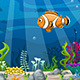 Cartoon Underwater Landscape - VideoHive Item for Sale