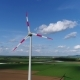 Alternative Energy Source, Wind Generator in the Field, Wind Turbine From the Air - VideoHive Item for Sale