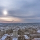 Kharkiv City From Above at Sunset Winter . Ukraine. - VideoHive Item for Sale