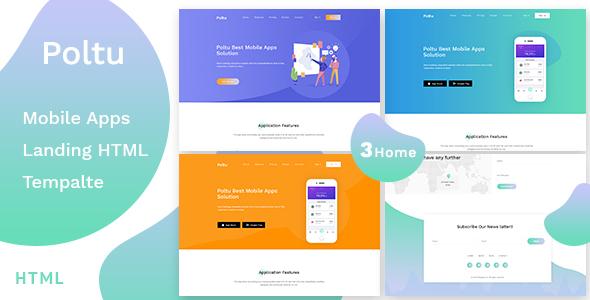 Poltu - Mobile App Landing HTML Template by template_mr