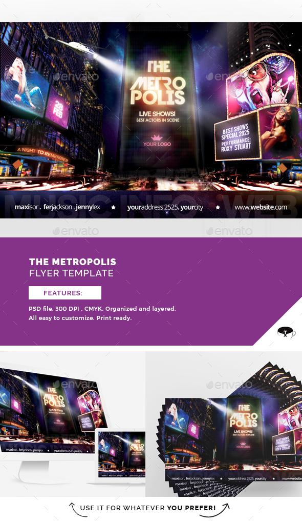 The Metropolis Flyer Template - Flyers Print Templates
