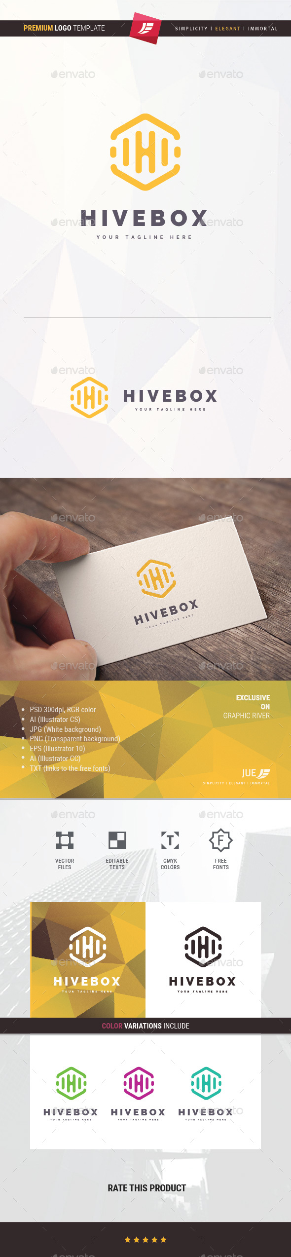 Hive Box Logo - Objects Logo Templates