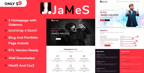 Image of James - Personal Portfolio Template