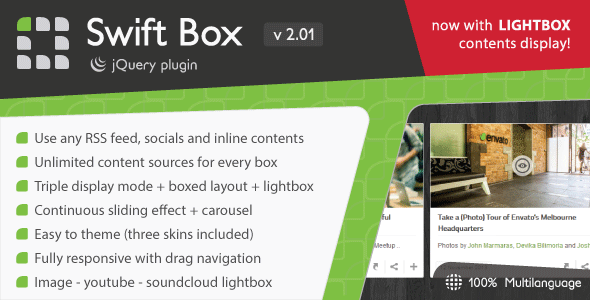 Swift Box - jQuery Contents Slider and Viewer - CodeCanyon Item for Sale