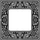 Black Floral Square Frame - GraphicRiver Item for Sale