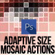 Adaptive Size Mosaic Tiles Photoshop Actions