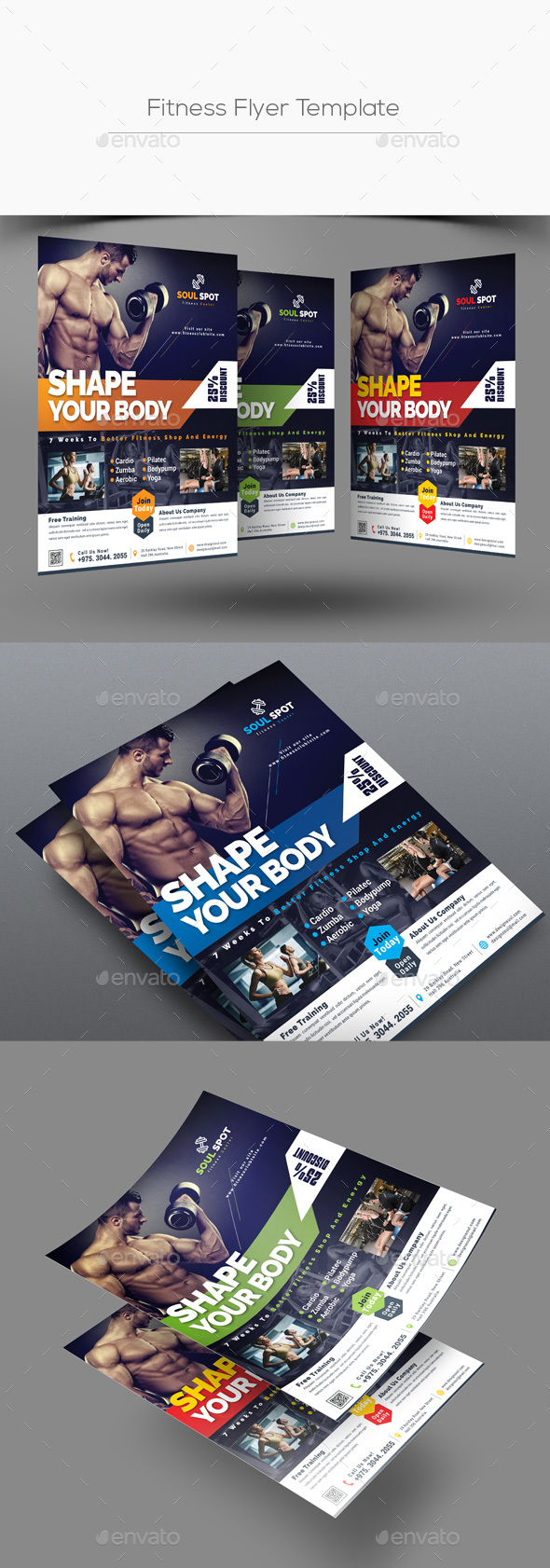 Fitness Flyer Template By Designsoul14 Graphicriver