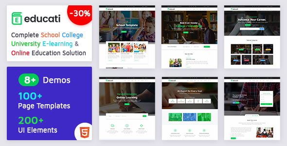 Image of Educati- Education HTML5 Template for School, College, University and E-learning