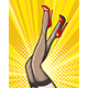 Pop Art Female Legs in Stockings and Red Shoes - GraphicRiver Item for Sale