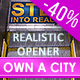 Realistic Urban 3D Titles Intro - VideoHive Item for Sale