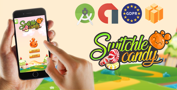 switchle candy - Admob Banner & Interstitial (Android Studio Project +GDPR )            Nulled