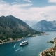 View of Kotor Old Town From Lovcen Mountain in Kotor, Montenegro. Cruise Ship Docked in Beautiful - VideoHive Item for Sale