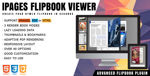 iPages - jQuery Flipbook PDF Viewer            Nulled
