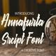 Annafurta Script  Font