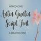 Antin Guntin Script Font
