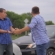 Two Men Arguing Conflict After a Car Accident on the Road Car Insurance - VideoHive Item for Sale