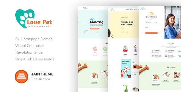 LovePet - Pet Shop & Veterinary Theme - Retail WordPress