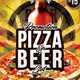 Pizza & Beer Set Flyer - GraphicRiver Item for Sale
