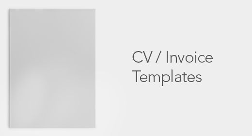 CV-Invoices Template