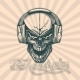Skull in Headphones - GraphicRiver Item for Sale