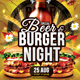 Beer & Burger Night - GraphicRiver Item for Sale