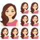 Woman Expression Set - GraphicRiver Item for Sale