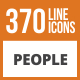 370 People Line Green & Black Icons - GraphicRiver Item for Sale
