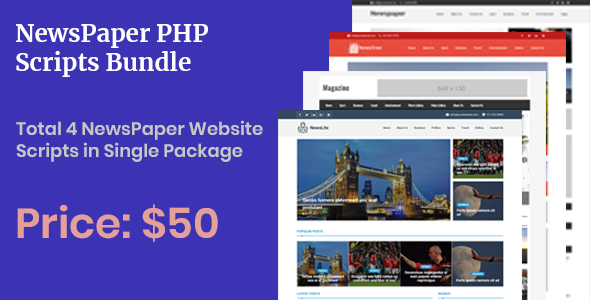 Newspaper PHP Scripts - Bundle - CodeCanyon Item for Sale