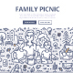 Family Picnic Doodle Concept - GraphicRiver Item for Sale
