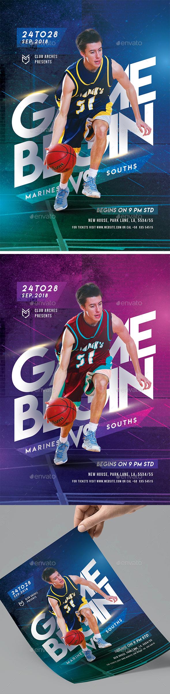 Creative Basketball Flyer - Sports Events