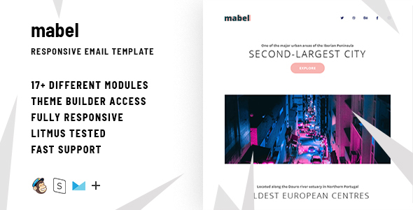 Mabel – Responsive Email + StampReady Builder
