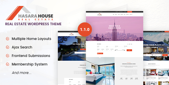Hasara House - Real Estate Responsive WordPress Theme - Real Estate WordPress