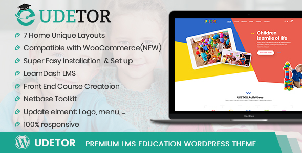 Udetor - LMS Education WordPress Theme