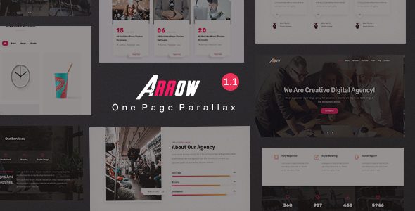 Arrow - Creative One Page Parallax
