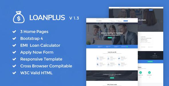 LoanPlus - Loan & Credit Company HTML Template - Business Corporate