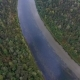 Flying Over the Beautiful Autumn River. Ural, Russia. - VideoHive Item for Sale