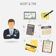 Auditing, Tax process, Accounting Banner - GraphicRiver Item for Sale