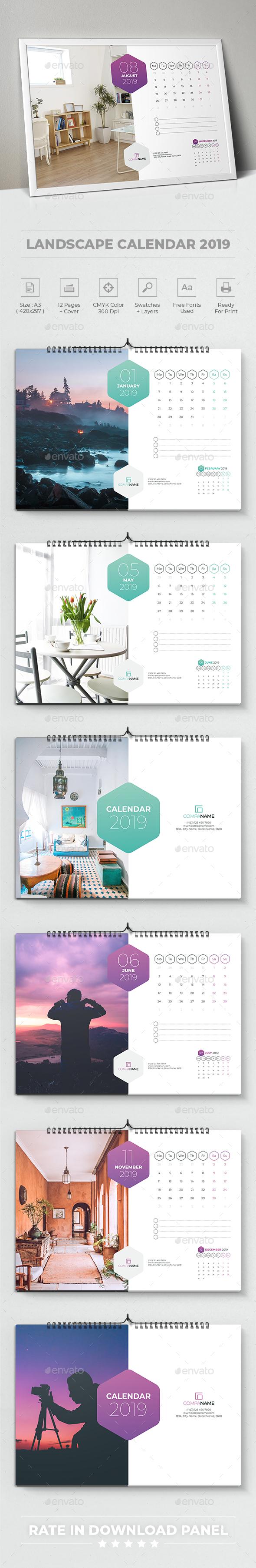 Landscape Calendar 2019 - Calendars Stationery